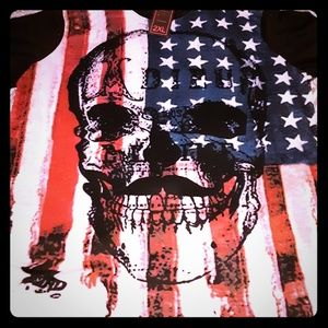 Other - American FlagNew with tags skulls shirt mens
